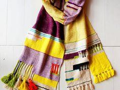 シルクの手織りストール(マスタード)※受注生産の画像
