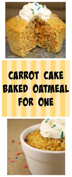 At 250 calories this massive carrot cake baked oatmeal for one will fill even the hungriest of appetites! Sugar free, low, fat and loaded with nutrients!