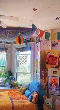 tiktok indie bedroom inspo cred aesthetic chill cozy posters tik tok rooms teen bedrooms boho hippie cool bilgipink rock alt