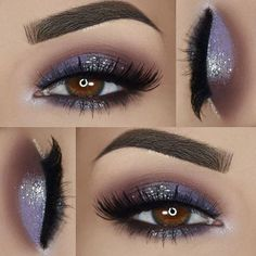 ___ ♡ Eyeshadows: @sigmabeauty Nightlife Palette ( Use code SAVE30 for 30% off, link in my bio) - @sugarnaturelbeauty eyeshadow in 'Velour' - @measurabledifference 12pc Glitter Eyeshadow palette ___ ♡ Lashes: @houseoflashes 'Feline' ___ ♡ Brows: @tamnovacosmetics 'Mink' brow styling duo