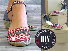 DIY Wedge Espadrilles: New from Dritz | Sew4Home - customize with your own fabric