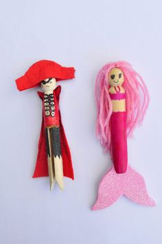 Buy clothes pins and let the girls make their own mystical aisle characters