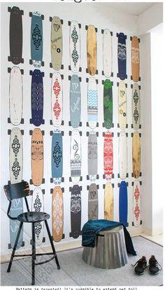 Product Categories Stoer For Boys Wallpaper Archive Skateboard Room, Kids Bedroom, Bedroom Decor, Boys Wallpaper, Art Wall Kids, Room Themes, Boy Room, Interior Design Living Room, Home Decor