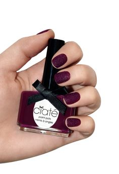 Ciate Velvet nails berry poncho nails shot