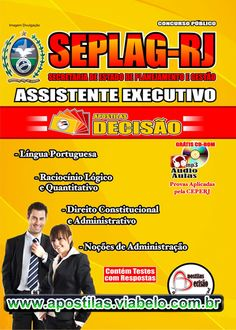 Concurso Estadual SEPLAG RJ 2012 - Apostila para Assistente Executivo  (R$31.90)
