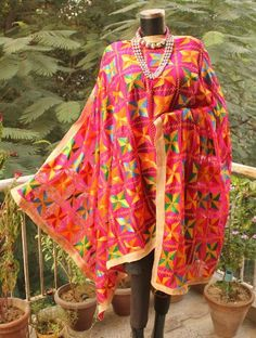 Buy Hand Embroidered Phulkari Dupatta
