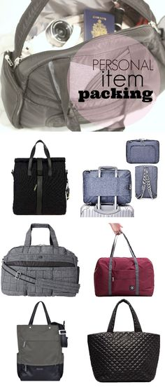 "personal item packing - what is the difference between carry on luggage and your ""personal item"". Choose your personal article carefully so as to maximize your carry on packing."