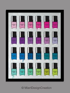 "Pantone color Nail Polish 3 Prints set 8""X10"" by miart design, via Behance"