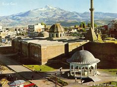 Middle Anatolia City Kayseri (Caesarea) Old Photos Hunat Mosque Mosque, Old Photos, Four Square, Istanbul, Taj Mahal, Middle, World, City, Building