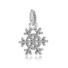 Pandora Silver Snowflake Pendant 390354CZ