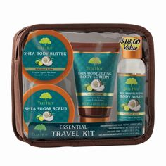 Tree Hut Coconut Lime Essential Travel Kit, Bath & Body Gift Sets