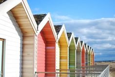 beach huts- great colors