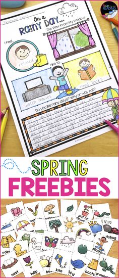 FREE Spring Worksheets & Printables! Includes a free Spring Word Search, Rainy Day Activity, and Spring Vocabulary Cards. Spring activities | Spring freebies | Spring worksheets for kids | Spring printables for kids | Spring printables for your classroom | Teaching