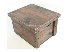 Wood Table Crate Rustic Wooden Box 24L x 20W x by BridgewoodPlace, $210.00