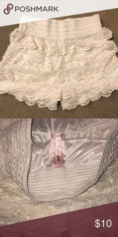 Lace shorts Worn once , great condition M Shorts Skorts Skorts, Lace Shorts, Best Deals, Closet, Things To Sell, Style, Fashion, Eyes, Swag