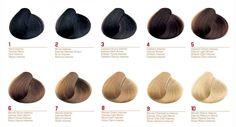 раскладка оттенков волос по тону 4 - Поиск в Google
