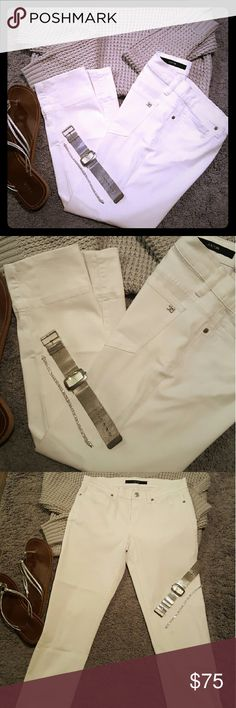 "⭕FINAL⭕JOE'S CROP HEM JEANS LIKE NEW EXCELLENT CONDITION NO HOLES NO TEARS NO STAINS. WHITE SIZE 27 4"" CROP HEM SEXY CUTE PAIR OF JEANS SUMMER FUN PAIR! *ASK QUESTIONS NO RETURNS* *NO TRADES* Joe's Jeans Pants Capris"