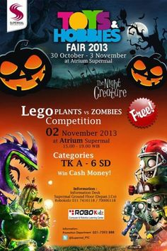 Toys & Hobbies Fair 2013 30 Oktober – 3 November 2013 At Atrium Supermall Pakuwon Indah – PTC Free!  http://eventsurabaya.net/toys-hobbies-fair-2013/