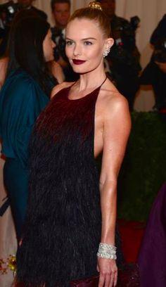 Kate Bosworth wears three Fred Leighton Art Deco diamond and platinum bracelets at the 2012 Met Gala