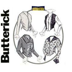 25ccf8c49b0 Victorian Blouse Pattern Butterick B4091 Bust 40 42 44 UNCUT Historic  Costume Basque Shirt Sailor Collar Weskit Vest Womens Sewing Patterns