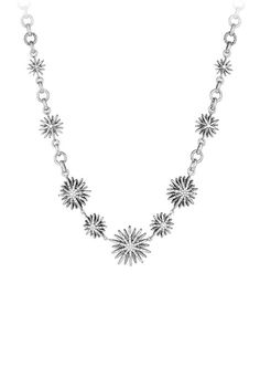 Starburst Link Necklace with Diamonds