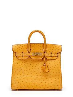 Saffron Ostrich HAC Birkin 32cm by Hermès on Gilt.com