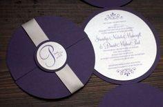 Kerek alakú esküvői meghívó