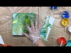 ( 031 ) Acrylic pouring mixing paint up close verborgen - YouT ube