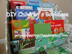 DIY kids book shelves