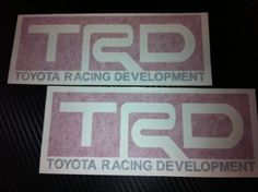 2x TRD Toyota Racing Decal Sticker (New) Black/red Size 7''x2.75'' by click2go. $5.99. can last 5 to 6 years