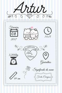 Quadro nascimento grátis para imprimir - Popis Digital