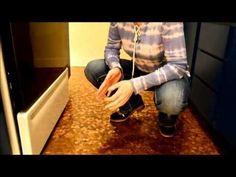 Penny Floor installation on kitchen and bathroom floor