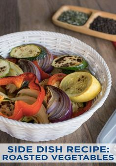Grilled Vegetables are a delicious and nutritious side dish to add to your favorite meals. These yummy flavors are perfect for spring cookouts!
