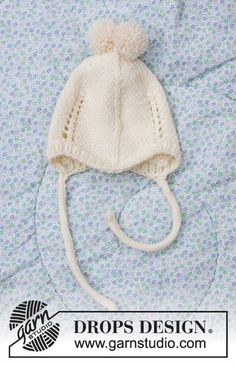 Winter Baby / DROPS Baby 33-12 - Gratis strikkeoppskrifter fra DROPS Design Baby Knitting Patterns, Baby Cardigan Knitting Pattern Free, Baby Hat Patterns, Baby Hats Knitting, Knitting For Kids, Free Knitting, Knitted Hats, Drops Design, Drops Baby Alpaca Silk