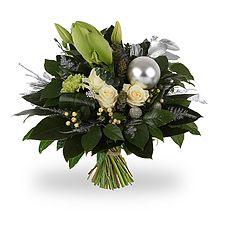 Kerstboeket Wit Christmas Arrangements, Christmas Centerpieces, Flower Arrangements, Christmas Decorations, Holiday Decor, Christmas Wreaths, Floral Wreath, Bouquets, Winter