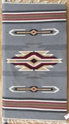 Chimayo blanket by Rudy Lee Valdez, handwoven wool Traditional Art, Woven Rug, Ikat, Aztec, Nativity, Westerns, Macrame, Blankets, Hand Weaving