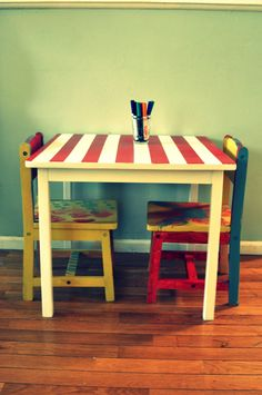 playroom table paint idea
