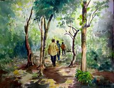 Pathanamthitta 14x11in Watercolor