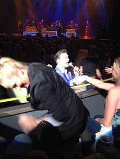 Chris Isaak concert Dec 27, 2013 - I was one row away