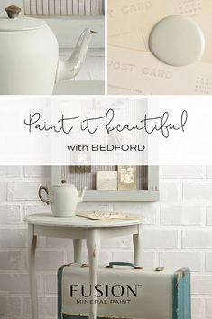 Bedford FUSION Mineral PaintFrench General TradingFurniture paint with a difference I will show you how in my Furniture painting workshops GBP My Furniture, Refurbished Furniture, Painted Furniture, Redoing Furniture, Mineral Fusion, Transforming Furniture, Favorite Paint Colors, Painting Workshop, Mineral Paint