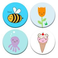 funky button badges