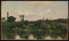 Martín Rico. El Sena en Poissy. 1869. Óleo sobre lienzo,  The Metropolitan Museum of Art. Nueva York. USA