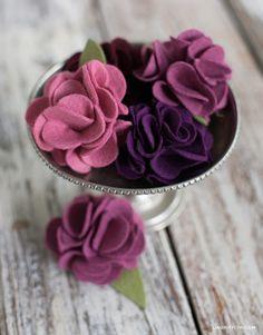 dishekus: Kendin Yap Basit Ama Şık Keçe Çiçek Yapımı