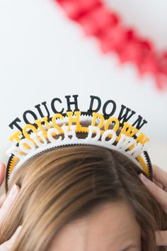 Party Ideas For  the Best Super Bowl Party-Accessorize, Accessorize, Accessorize Make sure all your guests have a party hat and more by clicking through our list of party ideas at redbookmag.com.