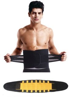 76b145c5b4 Waist Trainer for Men - Sweat Belt - Burn Stomach Fat