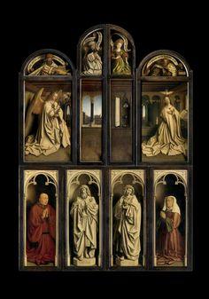 1432 | Jan van Eyck | Retábulo de Ghent (Adoração do Cordeiro) | Saint Bavo Cathedral Ghent