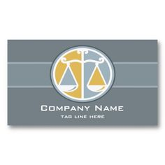 Scales of Justice Attorney Business Card Scales of Justice in Gold, Silver, and White. Customize with your own text. Original illustration by pj_design.
