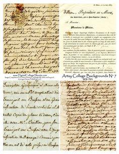 Vintage handwriting background