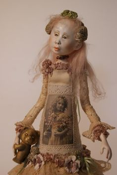 Art Doll.... I do not know the artist's name... isn't she beautiful?
