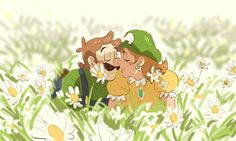 Luigi and Daisy collection The world needs more love Mario Fan Art, Super Mario Art, Mario Bros., Mario And Luigi, Mario Kart, Super Smash Bros, Princesa Daisy, Luigi And Daisy, King Boo